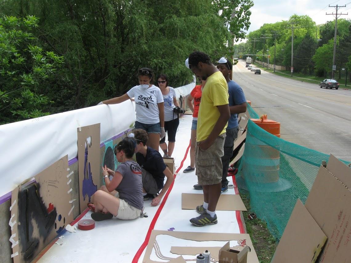 Brush bridge painting